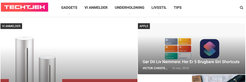 Vi anmelder Techtjek.dk